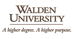 A picture of the Walden University logo.